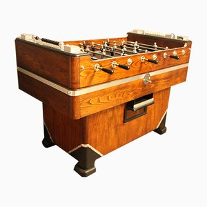 Vintage Wood & Aluminum Foosball Table
