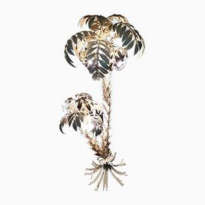 Lámpara de pie doble vintage grande en forma de palmera de Hans Kögl, años 70