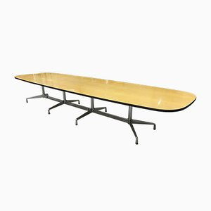 Large Vintage Ellipse Segmented Table by Charles & Ray Eames for Vitra