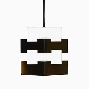 Swedish Metal Nift Pendant Lamp from Kronobergsbelysning, 1970s