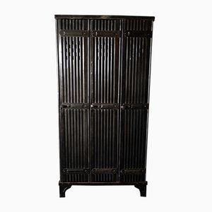 Polierter Vintage Spind mit 3 Türen von Strafor
