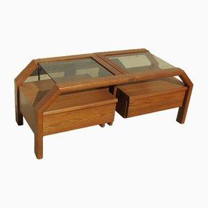 Teak Bedside Tables, 1980s, Set of 2