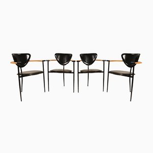 Italian Marilyn Chairs from Arrben, 1980s, Set of 4
