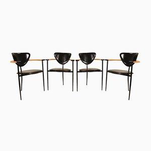 Italienische Marilyn Stühle von Arrben, 1980er, 4er Set