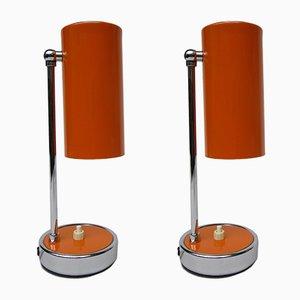 Lámparas de mesa italianas pequeñas, años 60. Juego de 2