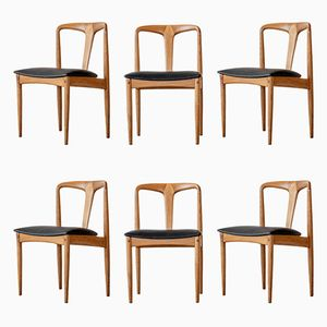 Oak Juliane Dining Chairs by Johannes Andersen for Uldum, 1960s, Set of 6