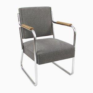 Armlehnstühle mit Röhrengestell, 1930er, 2er Set