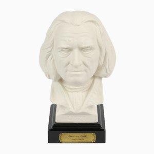 Busto de porcelana biscuit de Franz Liszt de Gerhard Bochmann para Goebel, años 70