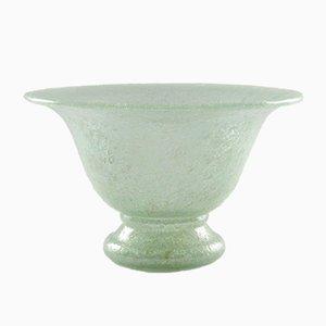 Vintage Schale aus Pulegoso Glas, 1930er