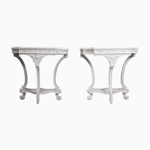 Antique Italian Console Tables, 1880s, Set of 2