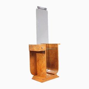 Toeletta Art Déco in legno di betulla di Carelia, anni '20
