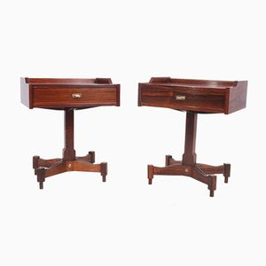 Italian Rosewood Bedside Tables by Claudio Salocchi for Luigi Sormani, 1960s, Set of 2