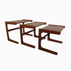 Tavoli ad incastro in teak di Salin Mobler, anni '60