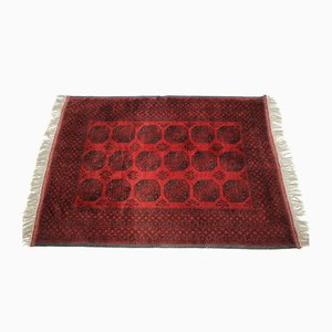 Alfombra grande de lana roja, años 80