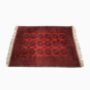 Tappeto grande in lana rossa, anni '80
