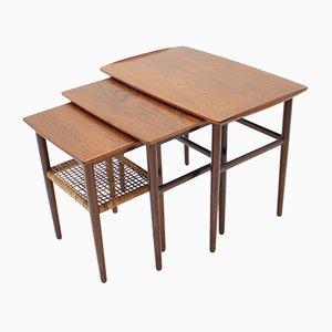 Mesas nido danesas de teca, años 60