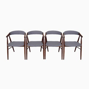 Vintage Danish Armchairs by Ejnar Larsen & Aksel Bender, Set of 4