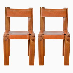 French S11 Chairs by Pierre Chapo, 1960s, Set of 2