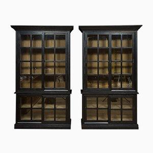 Ebonised Oak Cabinets, 1990s, Set of 2
