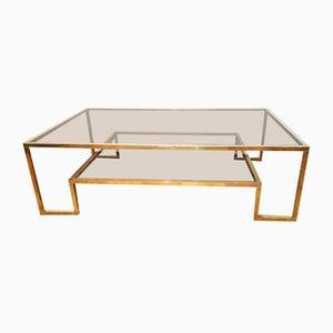 Table Basse en Laiton par Romeo Rega, 1970s