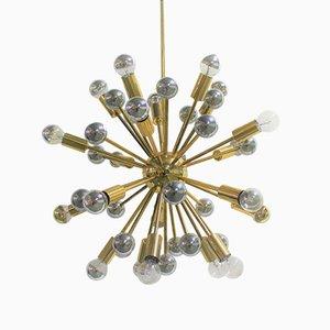 Vintage Brass Sputnik Chandelier, 1960s