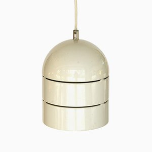 Large Swedish Metal Ceiling Spotlight with Light Grey Lacquer, 1970s