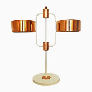 Large Desk Lamp with Copper Details from VEB, 1960s
