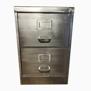 Vintage Metal Filing Cabinet with 3 Drawers