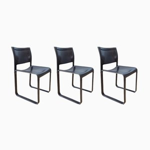 Sistina Dining Chairs by Tito Agnoli for Matteo Grassi, 1980s, Set of 3