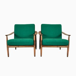 Mid-Century Lounge Chairs from Walter Knoll, Set of 2
