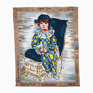 Vintage Handmade French Tapestry, 1980s