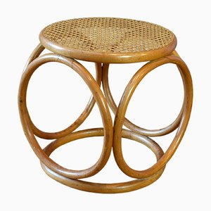 Vintage Bentwood & Cane Stool from Thonet