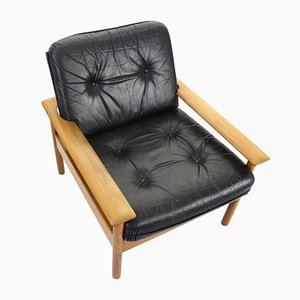 Mid-Century Modern Leather Lounge Chair, 1960s