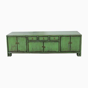 Vintage Chinese Green Lowboard, 1920s