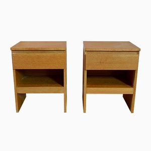 Vintage Oak Bedside Tables from Meredew, Set of 2