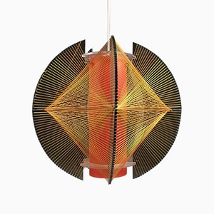 Vintage Sculptural String Ceiling Light, 1970s