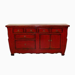 Rotes chinesisches Sideboard, 1920er
