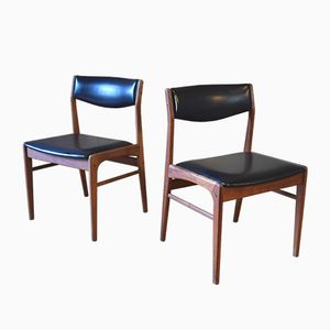 Vintage Teak Dining Chairs from Dyrlund, 1960s, Set of 2