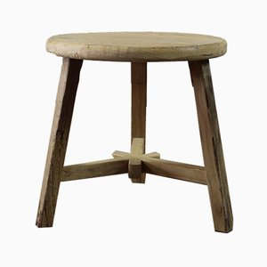 Chinese Elm Side Table, 1950s
