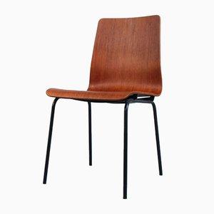 Chaise Euroika Vintage en Teck et Contreplaqué par Friso Kramer pour Auping