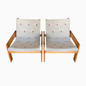 Vintage Lounge Chairs by Yngve Ekström for Swedese, 1970s, Set of 2
