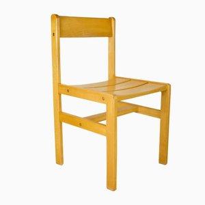 Chaise d'Appoint Vintage en Bois par André Sornay, 1960s