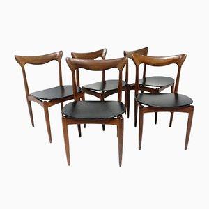 Chaises en Teck par H.W. Klein pour Bramin, 1960s, Set de 5