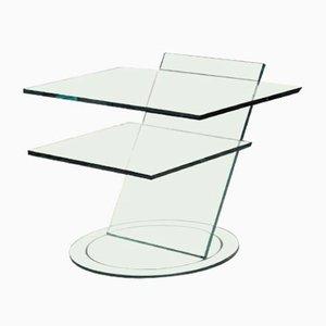 Mesa de centro de vidrio de Tonelli, años 90