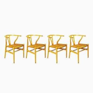 Wishbone Chairs by Hans J. Weger for Carl Hansen & Søn, 1950s, Set of 4
