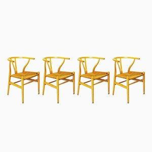 Wishbone Chairs von Hans J. Weger für Carl Hansen & Søn, 1950er, 4er Set