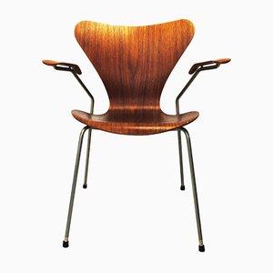 Silla serie 7 de teca de Arne Jacobsen para Fritz Hansen, 1978