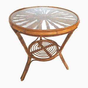 Tavolino vintage in bambù, anni '70