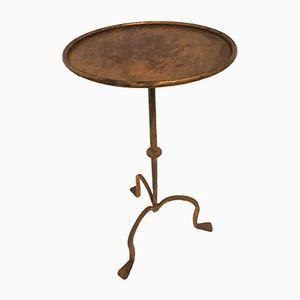 Golden Metal Side Table, 1950s