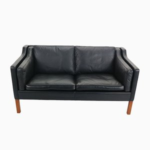 Leather Sofa by Børge Mogensen for Fredericia A/S, 1963